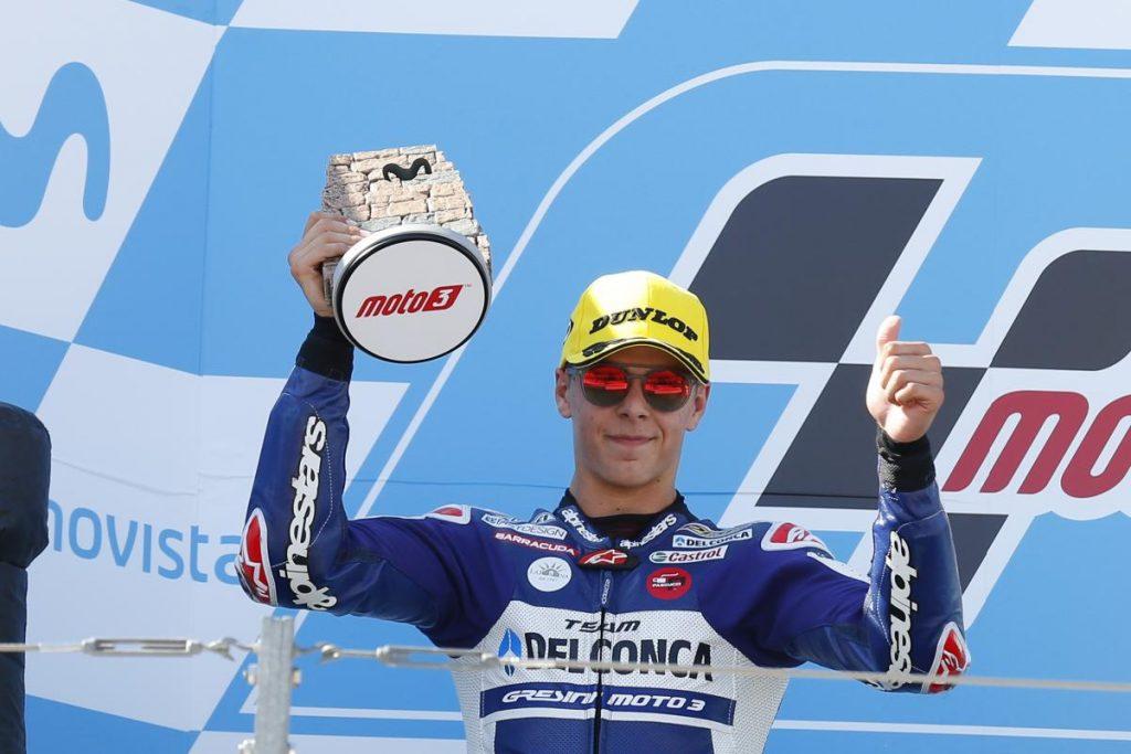 "Moto3 Aragon Gara: Di Giannantonio, ""Ho fatto una gara fantastica"""