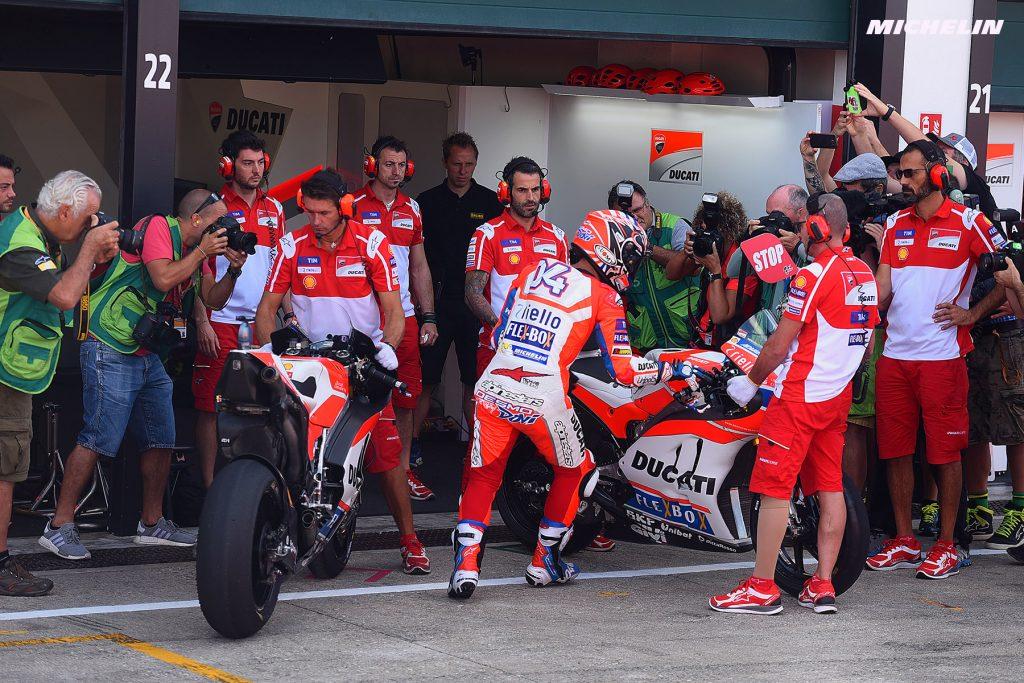 """MotoGP Misano Day 1: Dovizioso, """"L'obiettivo è partire nelle prime due file"""""""