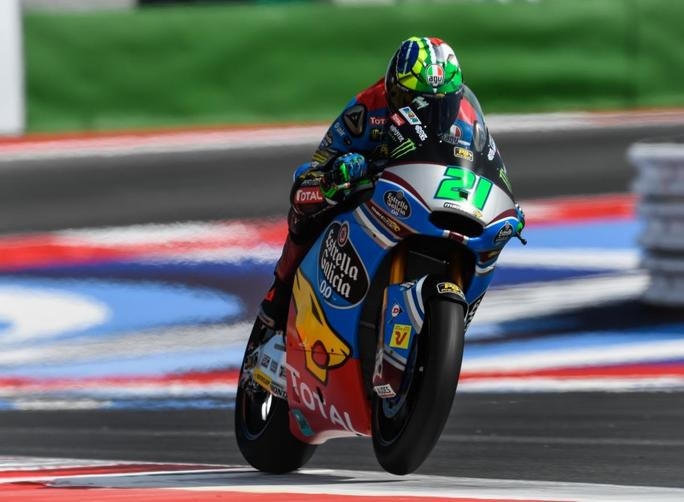 """Moto2 Misano Day 1: Morbidelli, """"Positivo finire secondo in entrambi i turni"""""""