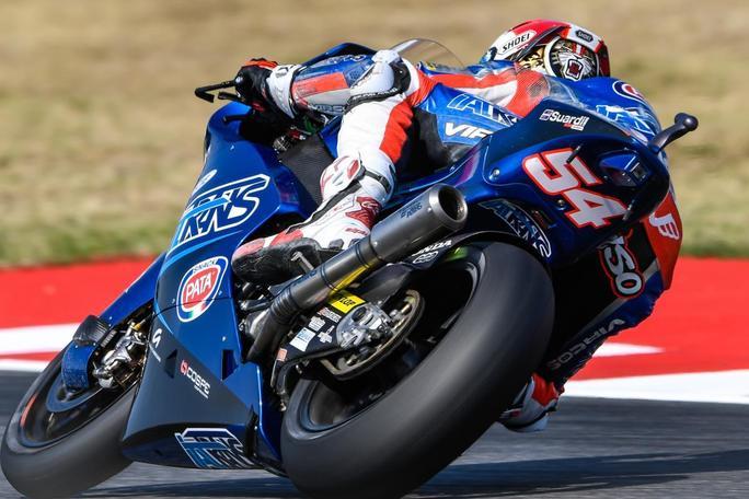 """Moto2 Misano QP: Pasini, """"Bello fare la pole, specialmente con questo casco"""""""