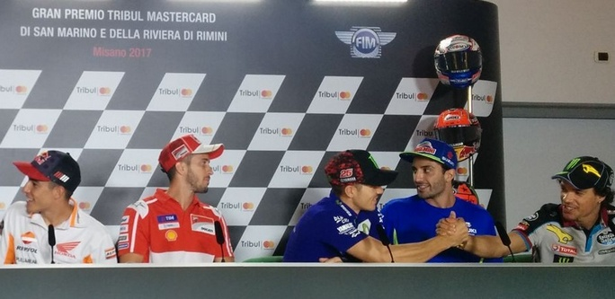 "MotoGP Misano, Press Conference: Vinales, ""In gara pensando al titolo"""