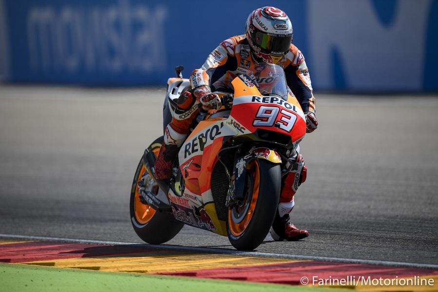 """MotoGP Aragon Gara: Marquez, """"Ho faticato tanto rispetto agli anni scorsi"""""""