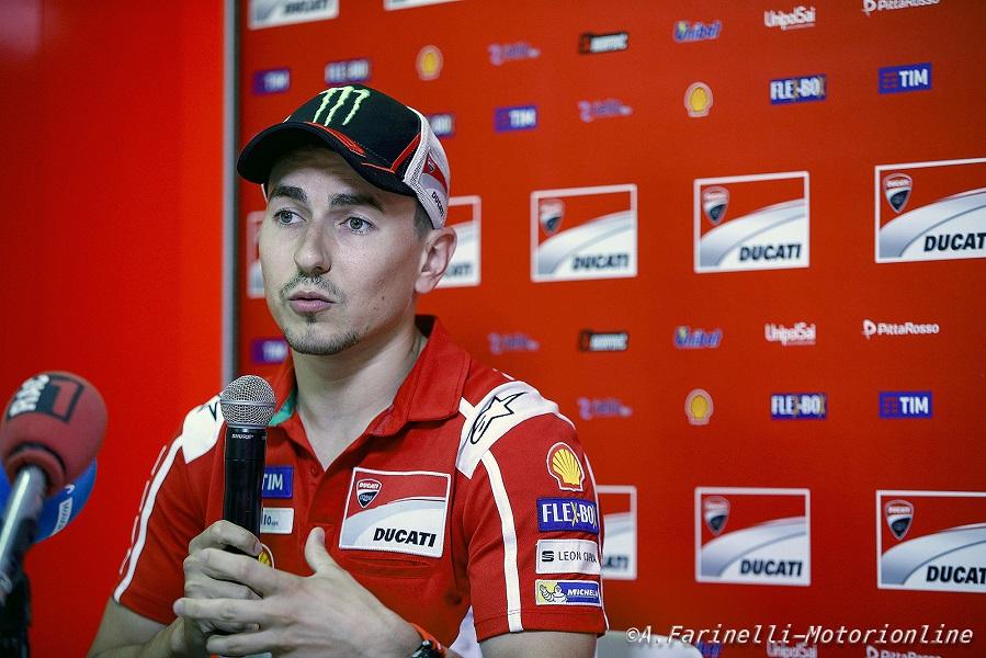 """MotoGP: Jorge Lorenzo, """"Aiutare Dovizioso? Non ne abbiamo parlato, ma alla fine della stagione sarà il momento di farlo"""""""