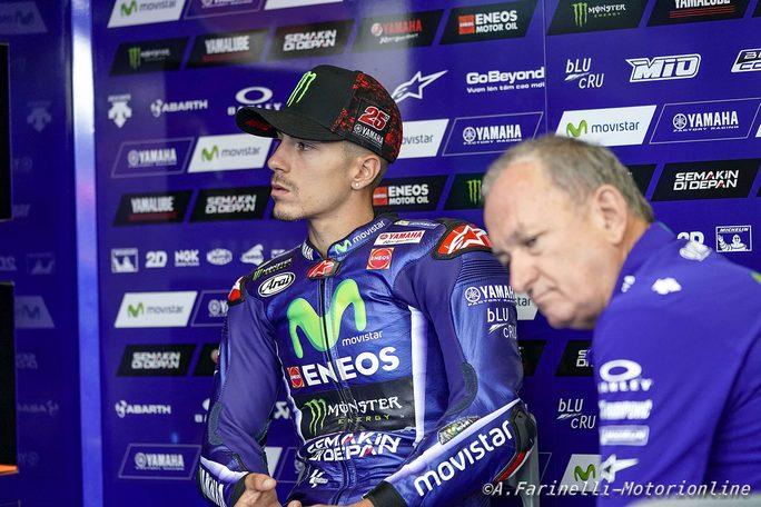 """MotoGP Misano Gara: Vinales, """"Sul bagnato siamo migliorati, ma non basta"""""""