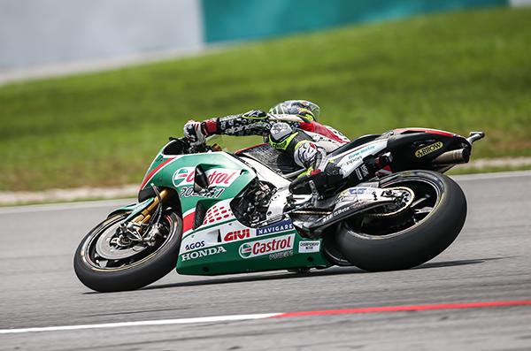 """MotoGP Sepang Qualifiche: Crutchlow, """"Passo migliore sull'asciutto"""""""