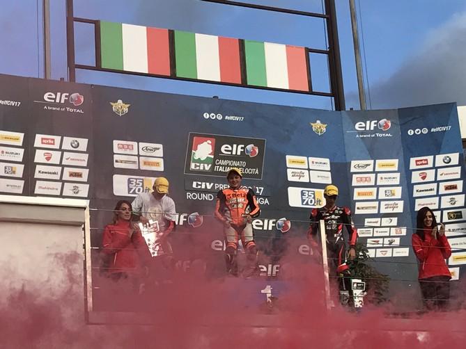CIV: Surra domina il round finale della PreMoto3 250 davanti ad Alfano che conquista il tricolore