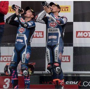 SBK, Pirelli French Round, Gara2: strepitoso doppio podio per Yamaha