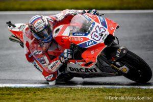 """MotoGP Motegi: Andrea Dovizioso, """"Qualifica strana, ma sul bagnato siamo veloci"""""""
