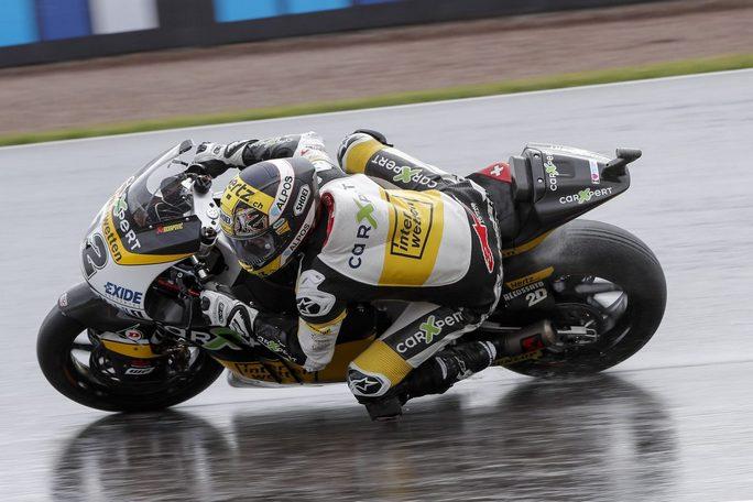 Moto2 Giappone: Luthi miglior tempo con caduta, Morbidelli 4°