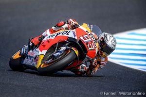 MotoGP Phillip Island FP4: Marquez è il più veloce, caduta per Dovizioso