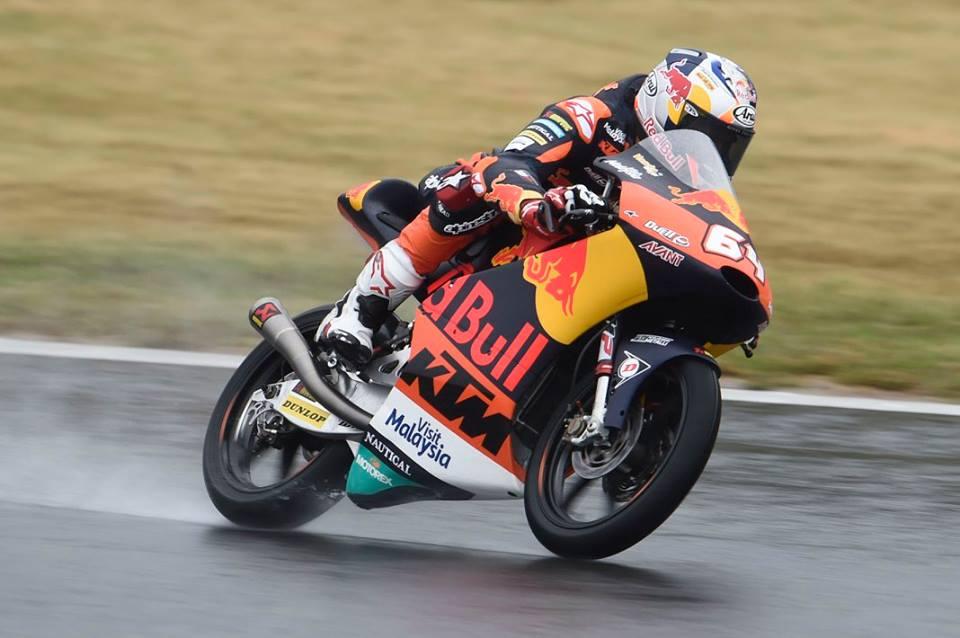 Moto3 Phillip Island Wup: Bendsneyder detta il passo sotto la pioggia, Fenati 4°
