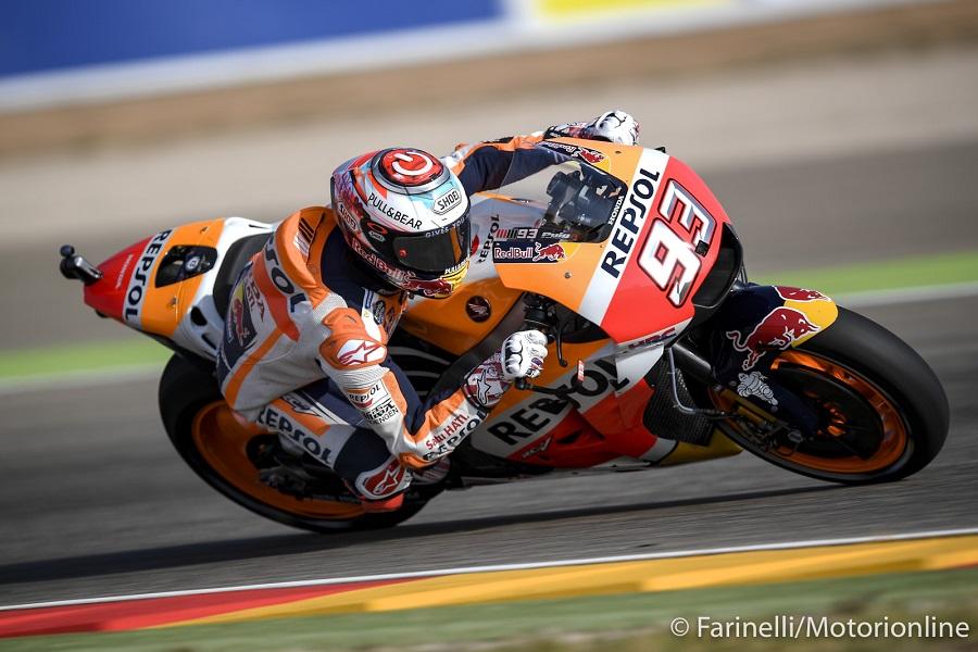 MotoGP Phillip Island FP1: Marquez domina, ma Dovizioso è vicino, Rossi 13°