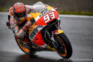 MotoGP Phillip Island FP3: Marquez vola sul bagnato, Lorenzo e Rossi costretti alla Q1