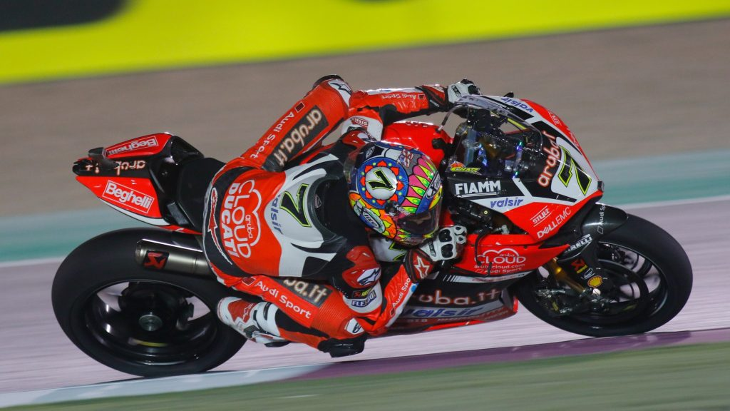 SBK| Acerbis Qatar Round, Gara1: doppio podio per Ducati