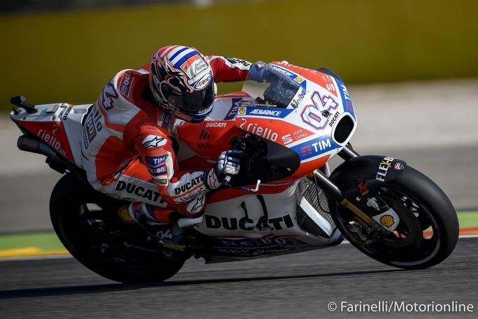 """MotoGP Valencia Day 1: Dovizioso, """"Non siamo ancora a posto, ma è importante essere davanti"""""""