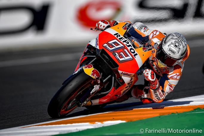 MotoGP Valencia FP4: Marquez fa sue anche le ultime libere, Dovizioso 5°, ancora difficoltà per Rossi
