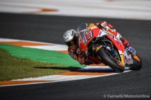 MotoGP Valencia Qualifiche: Marquez pole e caduta, Iannone terzo, Dovizioso solo nono