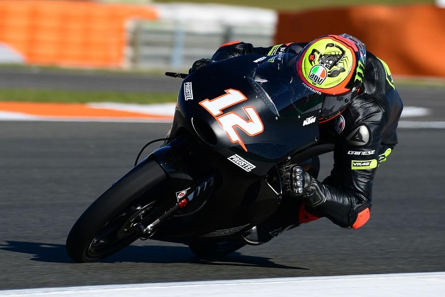 """Moto3 Test Valencia: Bezzecchi al debutto su KTM, """"Mi piace, si adatta al mio stile di guida"""""""