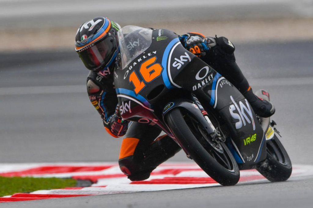 Moto3: a Valencia brutta caduta per Nicolò Bulega della VR46