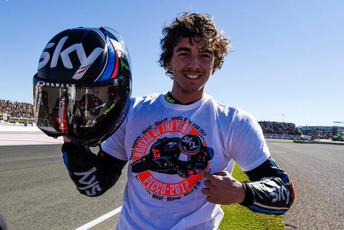 Un altro importante titolo è stato quello conquistato da Pecco Bagnaia, Rookie of the Year Moto2. Il pilota dello Sky Racing Team VR46 ha chiuso la sua prima stagione in Moto2 al quinto posto con 174 punti, 4 podi e 2 secondi post