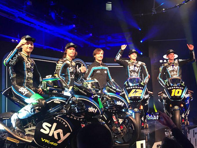 Presentato lo Sky Racing Team VR46. L'obiettivo è il Mondiale