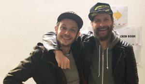 MotoGP | Valentino Rossi in visita da Jovanotti