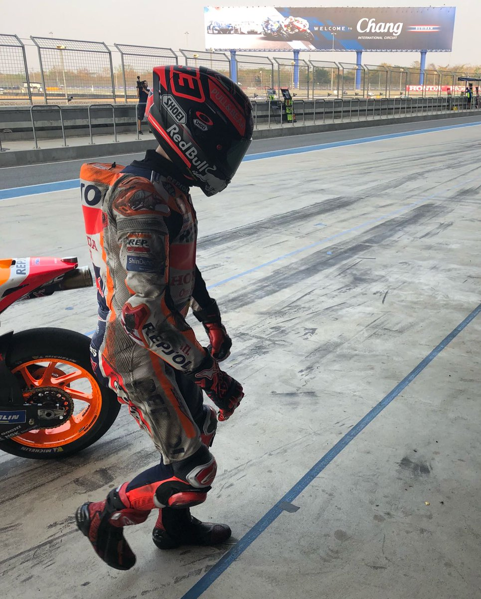 Rientro box <strong>Marc Marquez</strong> Chang International Circuit Buriram, in Thailandia