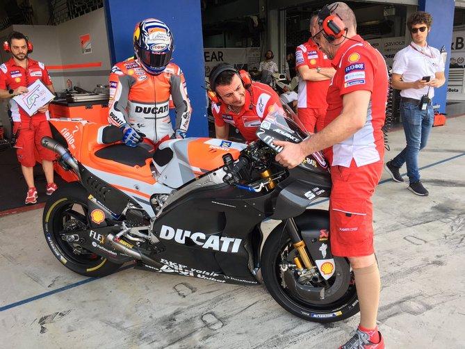 Andrea Dovizioso Ducati nuova carena Test Buriram.