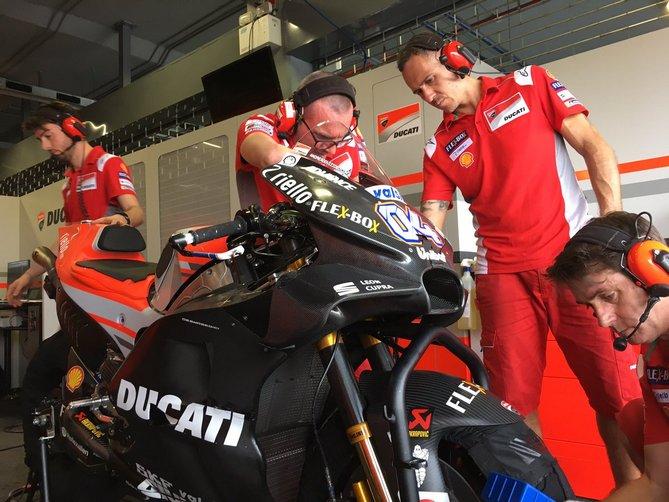 Nuova carena Ducati Test Thailandia Buriram Day 1 Chang International Circuit