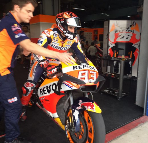 Nuova carena Honda Marc Marquez Chang International Circuit Buriram, in Thailandia
