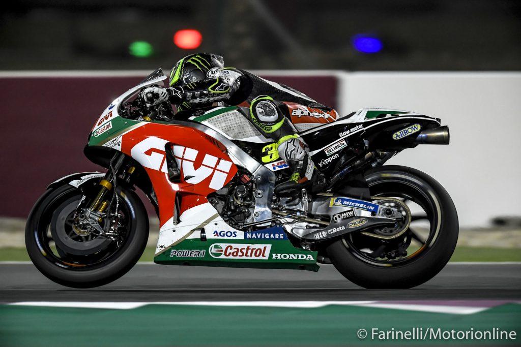 "MotoGP | Test IRTA Qatar Day 2: Crutchlow, ""Poco feeling con l'anteriore"""