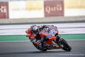 MotoGP | Gp Qatar, FP1: Ducati in vetta con Dovizioso, Rossi è secondo