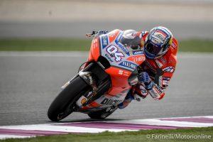 MotoGP   Gp Qatar FP4: Ultimo turno tutto tricolore con Dovizioso, Petrucci e Rossi
