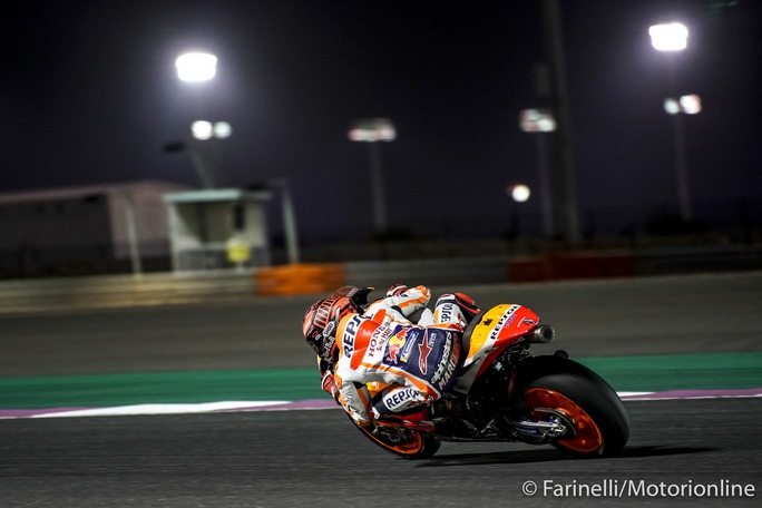 "MotoGP   Test IRTA Qatar Day 2: Marquez, ""Buona giornata e la caduta ci ha aiutato"""