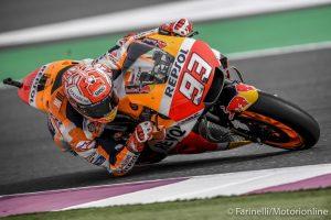 MotoGP | Gp Qatar Warm Up: Marquez precede le Ducati di Dovizioso e Petrucci