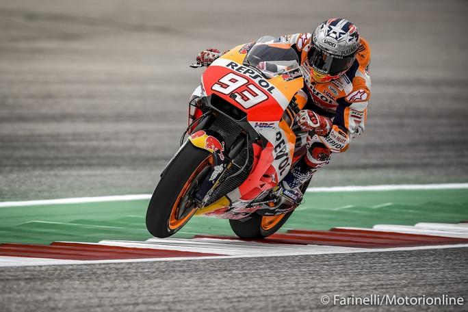 MotoGP | Gp Stati Uniti Qualifiche: Marquez,caduta e pole, Iannone in prima fila, Rossi 5°