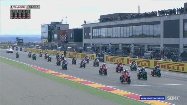 SBK   Pirelli Aragon Round, Gara 1: Rea vince ma Davies è indomabile