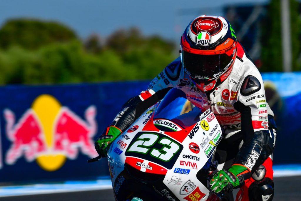"""Moto3   Gp Jerez Qualifiche: Antonelli, """"Sono comunque contento"""""""