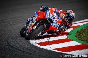 MotoGP| Gp Barcellona Warm Up: Dovizioso porta in vetta la Ducati, Rossi è terzo