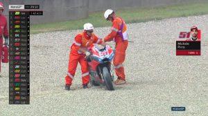 MotoGP   Gp Mugello FP2: Paura per Pirro, poi sospiro di sollievo