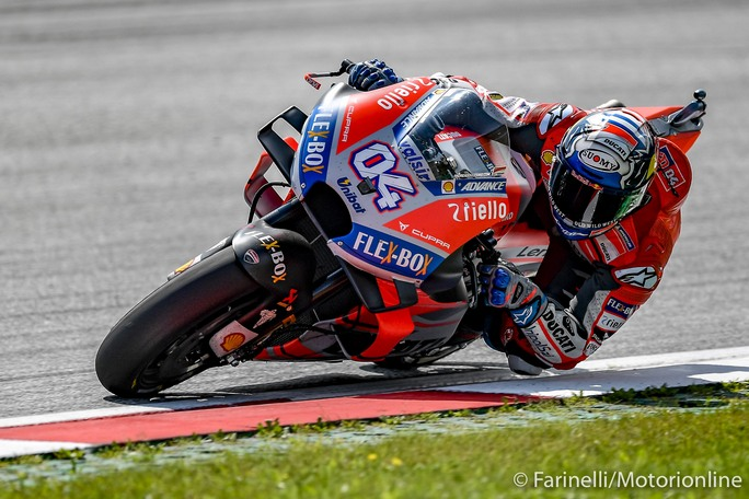 MotoGP | Gp Austria Warm Up: Dovizioso al Top, Marquez secondo e caduto