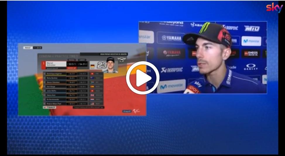 "MotoGP   Gp Aragon Day 1: Vinales, ""I test non sono serviti a niente"" [VIDEO]"