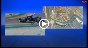 MotoGP | Gp Aragon: La caduta di Valentino Rossi [VIDEO]