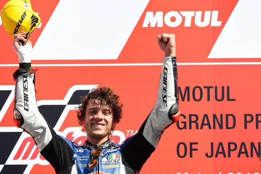 """Moto3   Gp Giappone Gara: Bezzecchi, """"Ho dato tutto per vincere"""""""