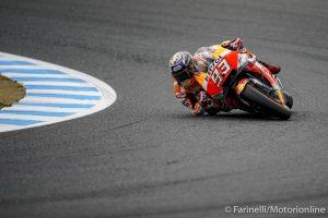 MotoGP | Gp Giappone FP4: Marquez, miglior tempo e caduta, Dovizioso è quarto
