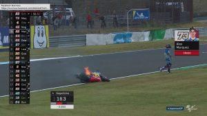 Moto2 | Gp Giappone FP1: Turno condizionato dalla pioggia, Schrotter il più veloce