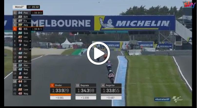 Moto2 | GP Australia, Pasini in pole a Phillip Island: gli highlights delle qualifiche [VIDEO]