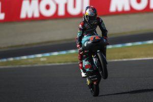 Moto3   Gp Giappone Warm Up: Sasaki sorprende e fa suo l'ultimo turno, Bezzecchi 2°