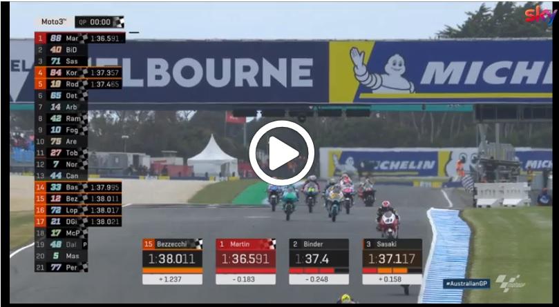 Moto3 | GP Australia, Martin firma la miglior prestazione a Phillip Island: gli highlights delle qualifiche [VIDEO]
