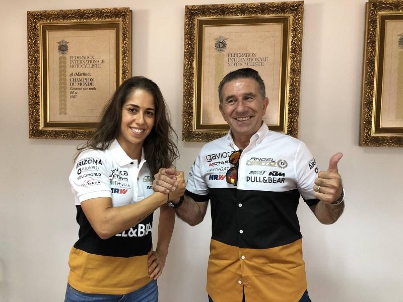 MotoE | Maria Herrera con il team Angel Nieto nel 2019